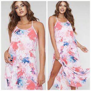 LAST ONE | Pink slit maxi dress